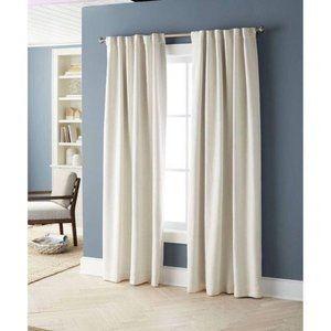 """Threshold Aruba Linen Blackout Curtain Panel 84"""""""